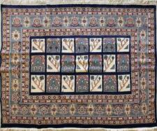 Rugstc 6x6 Pak Persian Blue Area Rug, Hand-Knotted,Bakhtiari with Wool Pile