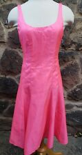 NWT NANETTE LAPORE MADE IN NYC PINK SILK SLEEVELESS DRESS SZ 2 FREE SHIPPING
