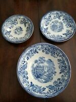 Royal Staffordshire TONQUIN BLUE 3pc Lot for use or Upcycle
