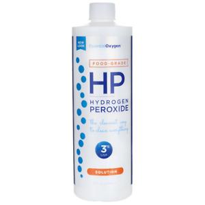 Essential Oxygen Food Grade Hydrogen Peroxide - 3% Solution 16 fl oz Liquid.