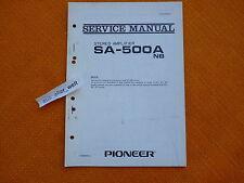 Service manual pioneer sa 500 A NB English-Schéma réparation Instructions
