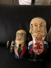 4 Pieces Nesting Doll Eltsin Gorbochev Stalin Lenin
