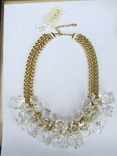ROBERT ROSE GOLD CHAIN LUCITE BAUBLES STATEMENT NECKLACE NWT - FABULOUS!