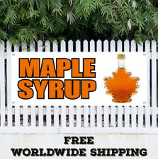 Banner Vinyl Maple Syrup Advertising Sign Flag Pancakes Waffles Vermont Flapjack