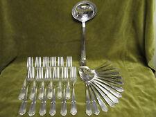 menagère metal argente rocaille régence LXV (dinner forks soup spoons) NC