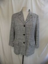Ladies Jacket Olsen UK 14, EU 40, black & white melange, blazer type, lined 1565