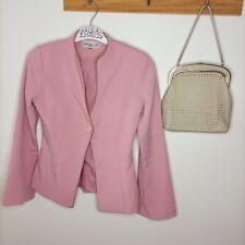 Vintage dusty pink jacket button suit business formal corporate smart M cocktail