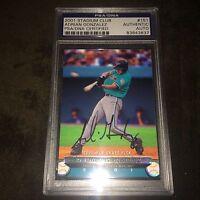 Adrian Gonzalez LA Dodgers Signed Autograph 2001 Stadium Club Rookie PSA/DNA