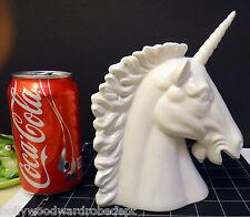 UNICORN rainbow white HORSE porcelain head figure 1980 vtg japan stallion fairy