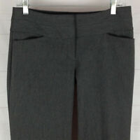 Express Editor womens 2S x 29 stretch gray flat front flare dress career pants