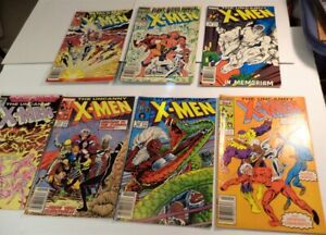 BIG LOT OF 7 THE UNCANNY X-MEN COMICS 1987 & 1988 NICE!