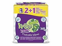 Kandoo Sensitive Flushable Toilet Wipes - 21 Free Total 150 Wipes