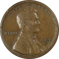 1923 S 1c Lincoln Wheat Cent Penny US Coin VF Very Fine