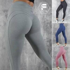 Womens High Waist Yoga Pants Leggings Gym Fitness Push Up Workout Trousers UK M8