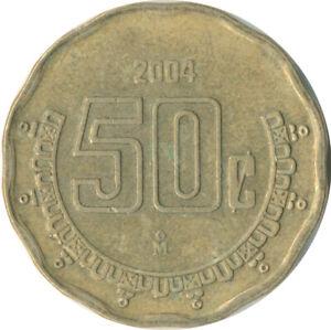 COIN / MEXICO  50 CENTAVOS  2004      #WT9339