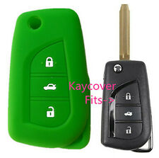 GREEN SILICONE CAR KEY COVER for TOYOTA CAMRY COROLLA SPORT 2013 2014 ASCENT