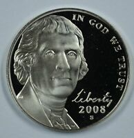 2008-S Proof Jefferson Nickel Full Steps Nice Coins Priced Right Shipped FREE