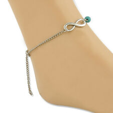 One Celebrity Lucky Bead Infinity Foot Sandal Bracelet Anklet Beach Ankle Chain