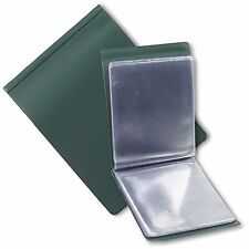 A6 NYREX (NIREX) FLOPPY ORDERS FOLDER IN GREEN WITH 20 CLEAR POCKETS