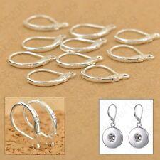 8pcs .925 Sterling Silver LEVERBACK  Earwire Hook Jewelry Earring Findings DIY.
