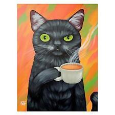 5D Diamond Painting Kit Tea Cat Orange 20cm x 30cm FULL DRILL Canvas UK Seller