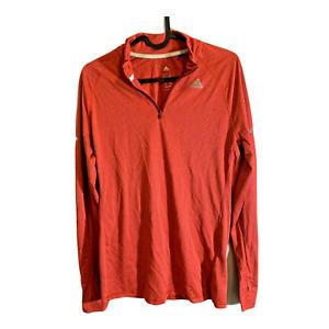Adidas Running Sweater Adult Medium Orange Dri Fit Running Mens 21