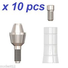 10 x Dental Straight Multi-Unit Attachment Systems Titanium Connection Abutment