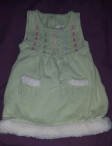 2T Gymboree Fairy Wishes Sweater DRESS girl green Faux fur