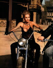 Glossy Photo Picture 8x10 Shelby Lynne On Motorcycle