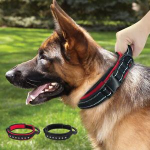 Heavy Duty Training Dog Collar with Handle Quick Control Boxer Doberman Pitbull