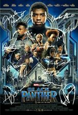 "MARVEL's BLACK PANTHER FILM MOVIE POSTER CAST MULTI Signed Autograph PRINT 6x4"""