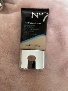 No7 Hydra Luminous Moisturising Foundation - Shade Warm Ivory- 30ml