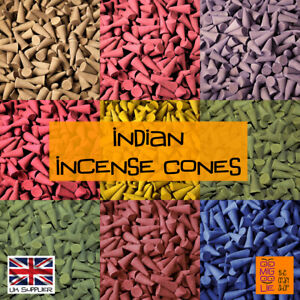 Indian Incense Burning Cones *Choose Quantity Fragrance Aromatherapy Spa Insence