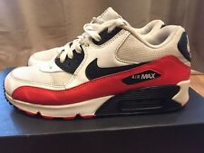 2013 Mens Nike Air Max 90 Essential Black Crimson Grey Size 9 Used Rare NDS