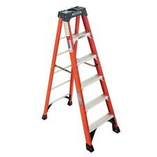 Werner 6 Ft Fiberglass Step Ladder 300 Lb Load Non Conductive Type Ia Duty Rated