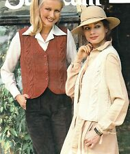 "LADIES~WAISTCOAT~ARAN~CABLE~KNITTING PATTERN SIZE 32""-38""  (Z58)"