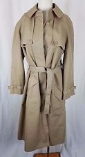 Misty Harbor Cape Top All Weather Cotton Belted Tie Sash Trench Coat Womens 14