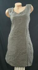 Carlucci Womans Classic Sleeveless sheath Shift Dress Career houndstooth sz 24
