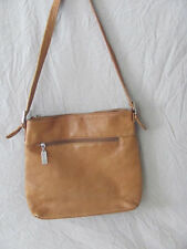 "WOMEN'S TIGNANELLO CARMEL BROWN LEATHER HOBO PURSE HANDBAG 11""X 11""X 3"""