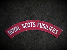 Royal Scots Fusiliers reproduction printed badges WWII for Battledress
