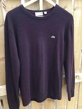 LACOSTE maglione girocollo lana Taglia 4
