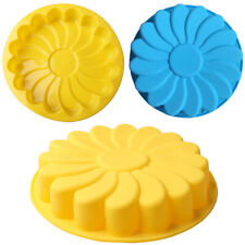 Silicone Large Flower Cake Mould Chocolate Soap Candy Jelly Mold Baking Pans wer