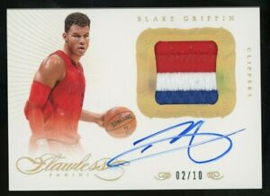 2012-13 Panini Flawless Gold Blake Griffin 3-Color Patch Signed AUTO 2/10