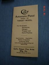 Colt Pre-Woodsman 22 Semi-Auto Manual Rare