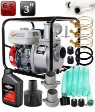 1000l/min Benzin Wasserpumpe 6,5PS Gartenpumpe Motor 3'' +2x Schlauch B-ware*