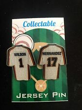 New York Mets lapel pins/Keith Hernandez/Mookie Wilson-1986 Classic Collectables