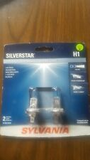 SYLVANIA H1 SilverStar High Performance Halogen Headlight Bulb, 2 Bulbs