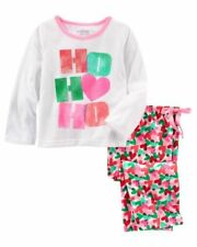 New OshKosh HO HO HO Christmas Girls 2 Piece PJs 12 Year NWT Holiday Hearts