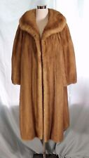 VINTAGE BLONDE MINK COAT 1960s SP Trippy Furs SEATTLE Pristine From Cold Storage