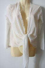 Mela Purdie white top , AUS size 14, new